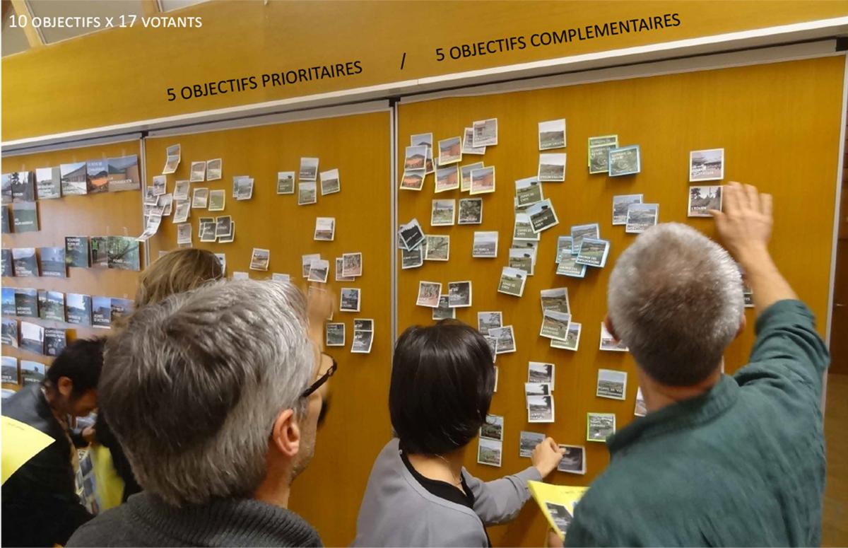 Atelier participatif pour le choix de la stratégie paysagère du territoire