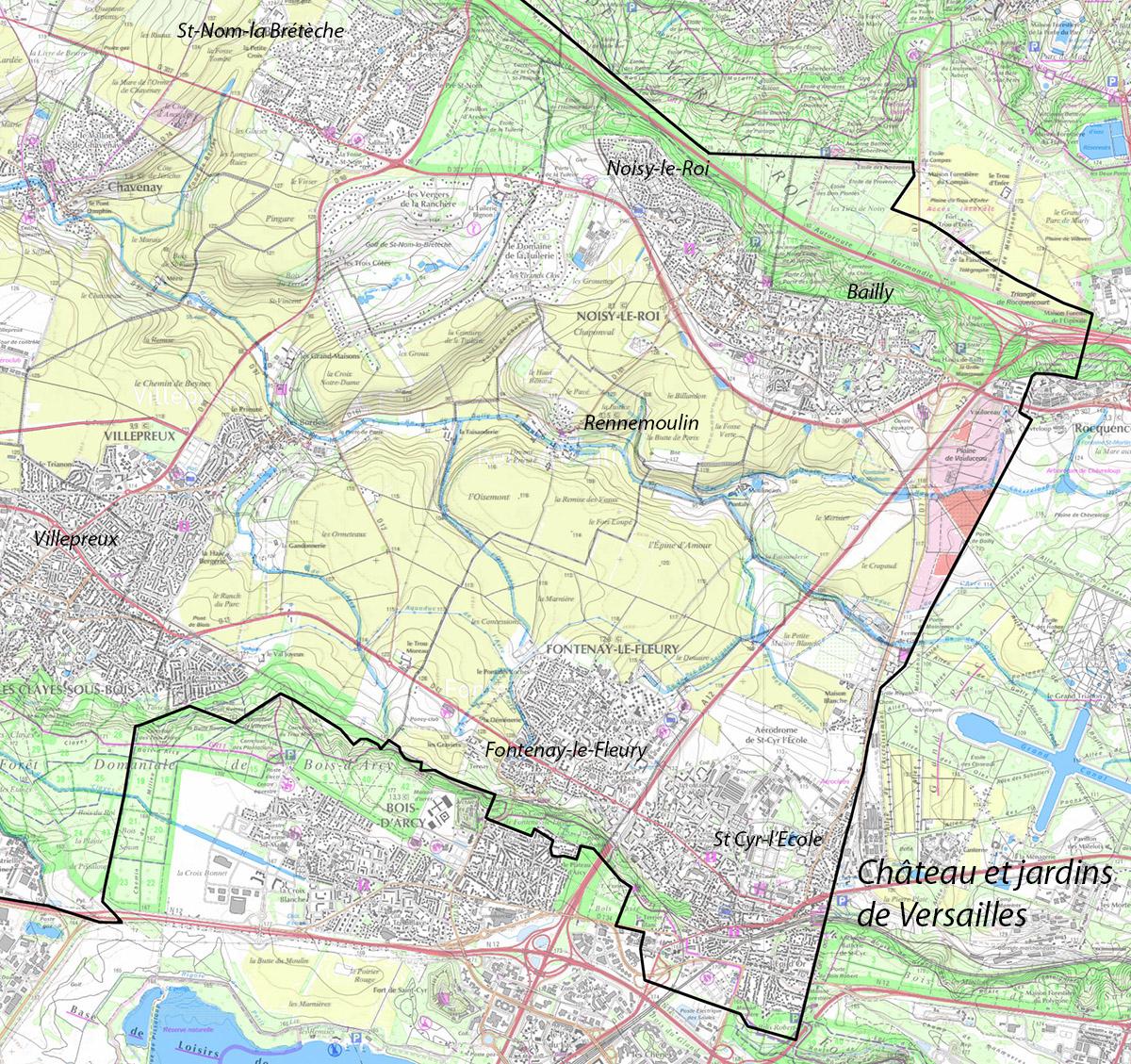 Contexte géographique du secteur Est de la Plaine